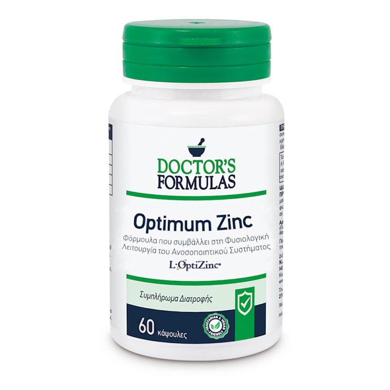DOCTORS FORMULAS Optimum Zinc, Ψευδάργυρος, Βιταμίνη C & Χαλκός - 60caps