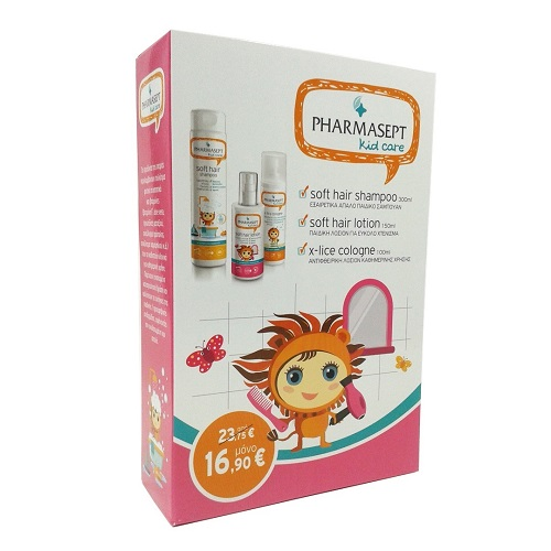 PHARMASEPT PROMO Kid Soft Hair Shampoo 300ml & Kid Soft Hair Lotion 150ml & X-Lice Cologne 100ml