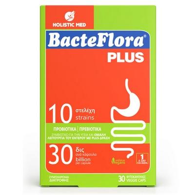 HOLISTIC MED BacteFlora Plus, Συνδυασμός Προβιοτικών και Πρεβιοτικού - 30 caps
