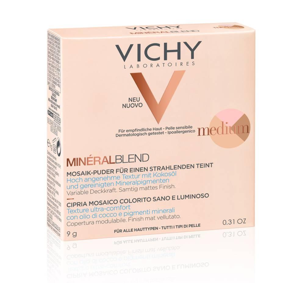 VICHY MineralBlend Healthy Glow Tri-Color Powder, Τρίχρωμη Πούδρα, Medium -9gr