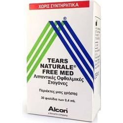 ALCON Tears Naturale Free Med Λιπαντικές Οφθαλμικές Σταγόνες 30x0.4ml