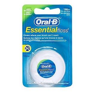 ORAL B Essential Floss Κηρωμένο Οδοντικό Νήμα , Μέντα - 50m