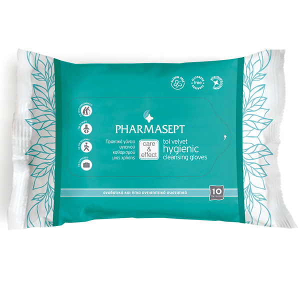 PHARMASEPT Hygien Gloves, Υγρά Γάντια Μίας Χρήσης - 10τμχ