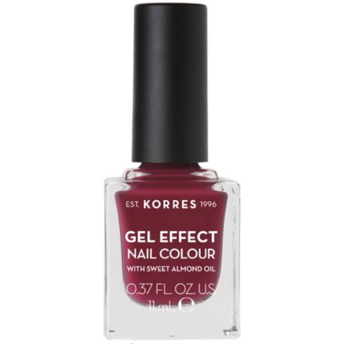 KORRES Gel Effect Nail Colour 74 Berry Addict Με Αμυγδαλέλαιο 11ml