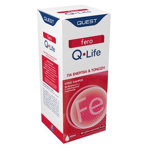 QUEST Fero Q-Life, Σίδηρος με Βιταμίνες B, C & Μέταλλα - 200ml