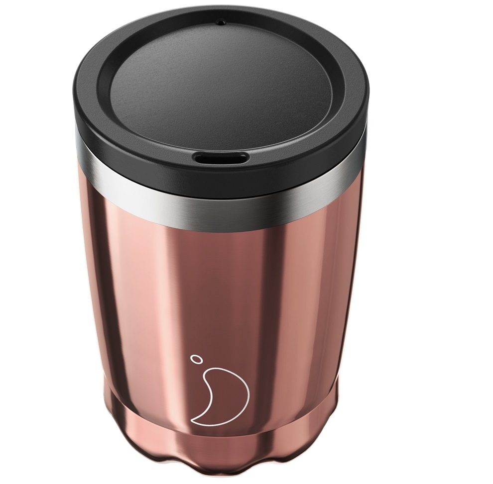 CHILLYS BOTTLES Coffee Cup, Κούπα- Θερμός, Rose Gold - 340ml