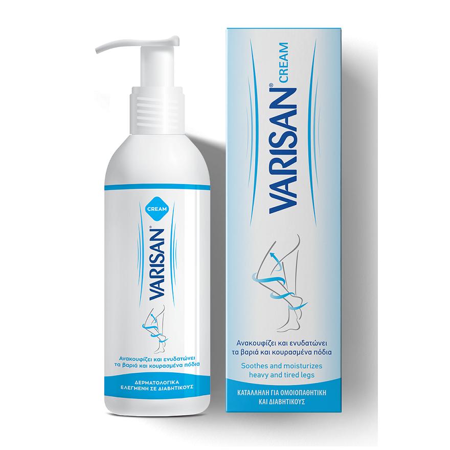 VARISAN Cream, Ανακουφίζει & Ενυδατώνει τα Βαριά & Κουρασμένα Πόδια - 150ml