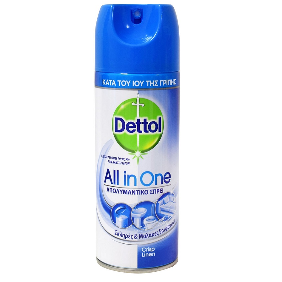 DETTOL All In One, Απολυμαντικό Spray Crisp Linen - 400ml