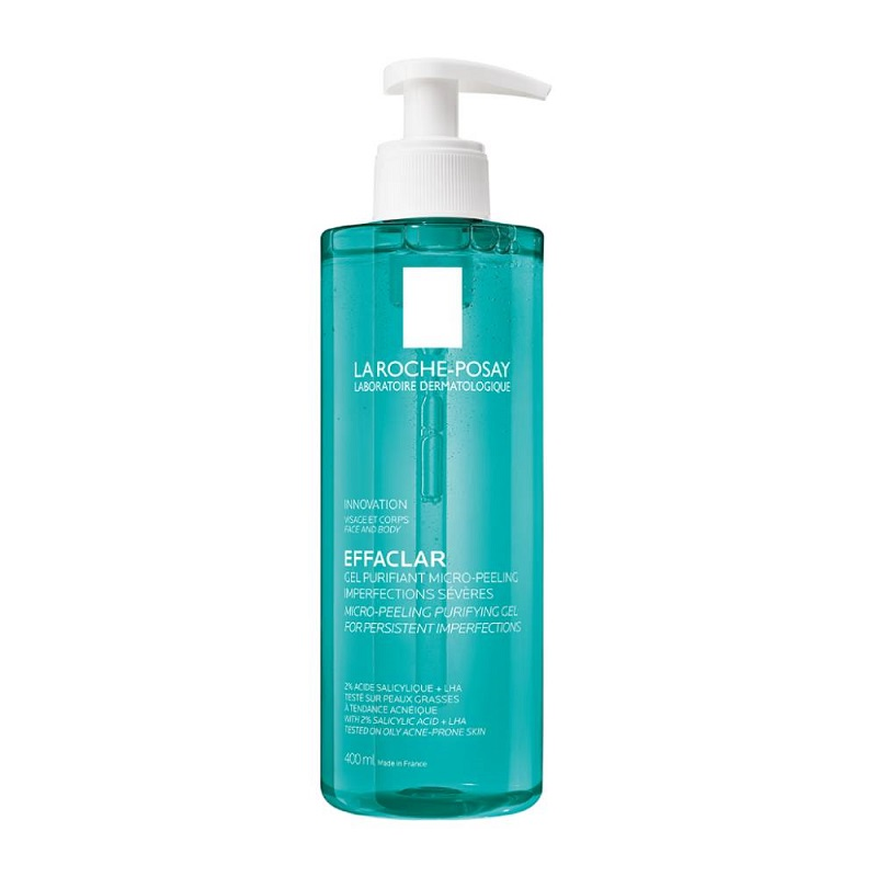 LA ROCHE POSAY Effaclar Micro Peeling Purifying Gel, Αφρώδες Gel Καθαρισμού - 400ml