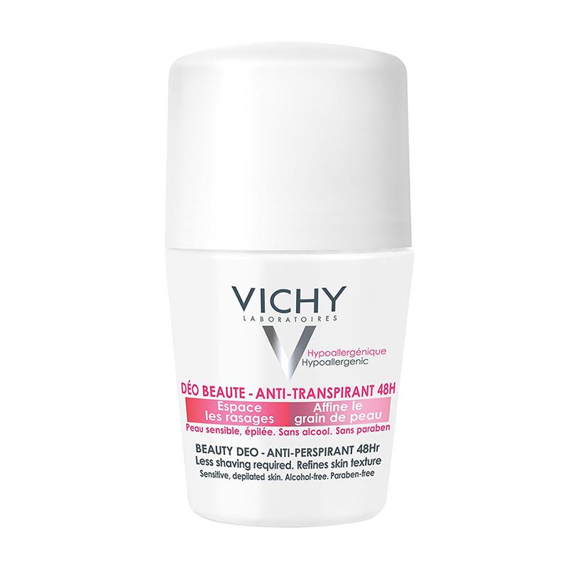 VICHY Deodorant Roll- On  Ideal Finish 48h, Αποσμητικό για Βελτίωση Υφής της Επιδερμίδας - 50ml