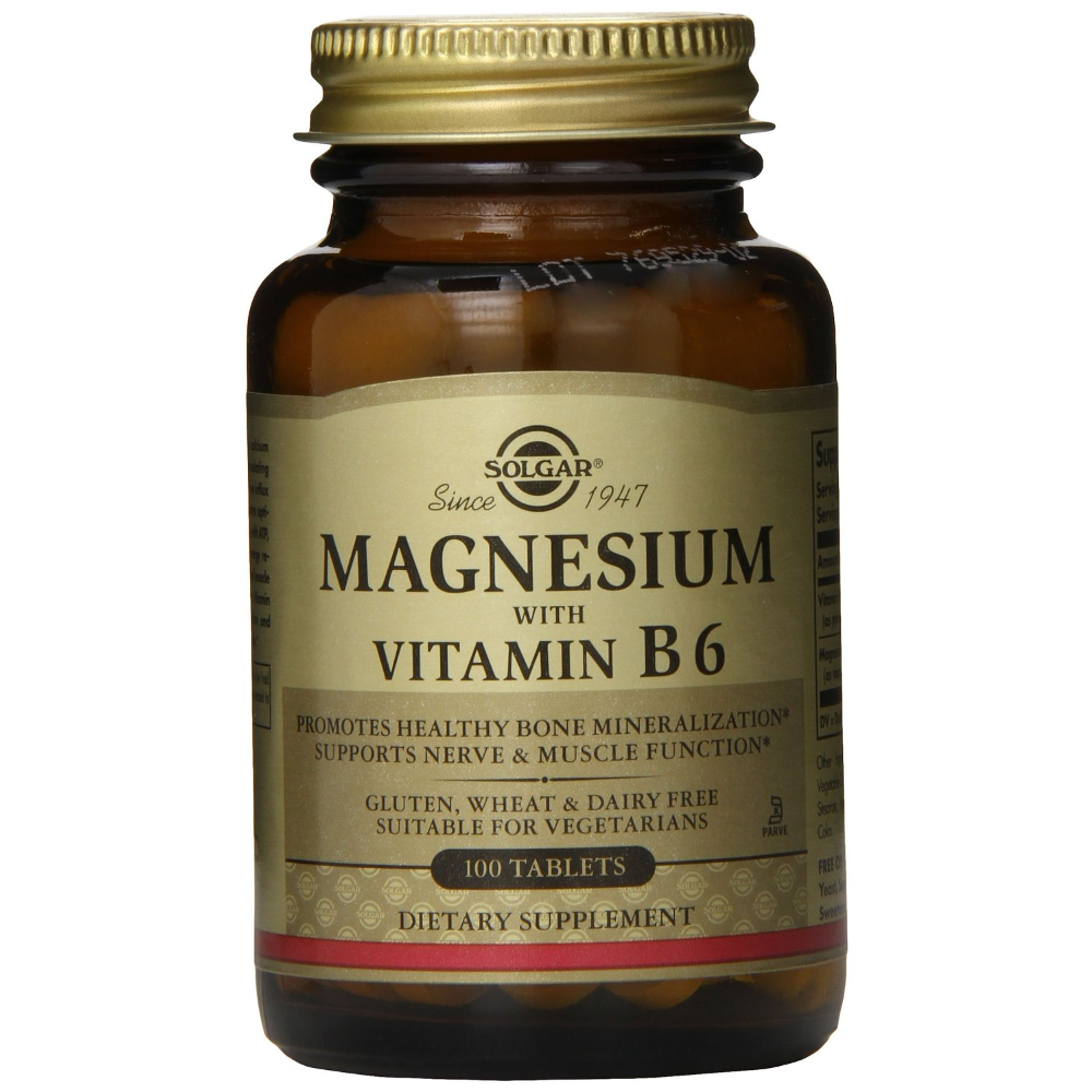 SOLGAR Magnesium with Vitamin B6 - 100tabs
