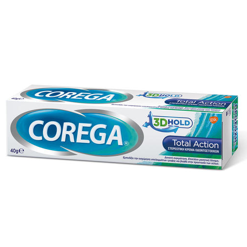 COREGA  3D Hold Total Action Στερεωτική Κρέμα Οδοντοστοιχιών 40g