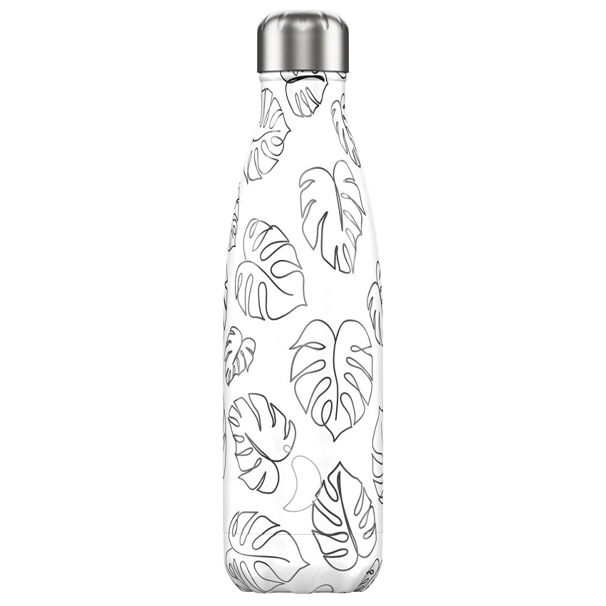 CHILLYS BOTTLES Μπουκάλι- Θερμός Leaves Line Art Edition - 500ml