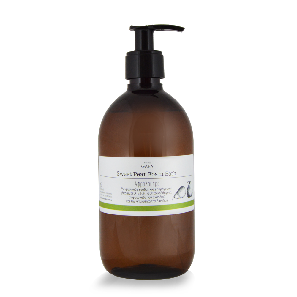 THINK GAEA Sweet Pear Foam Bath Αφρόλουτρο 500ml
