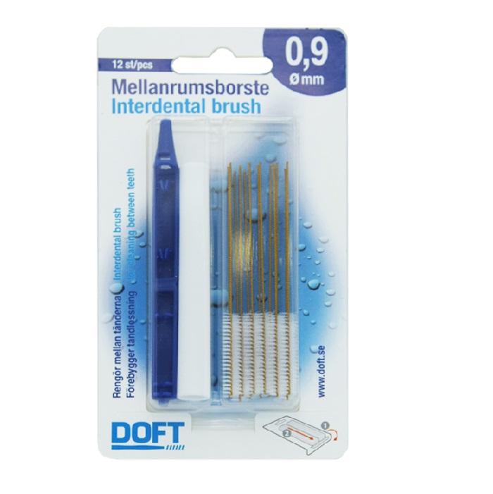 DOFT Interdental Brush, Μεσοδόντια Βουρτσάκια 0.9mm - 12τμχ