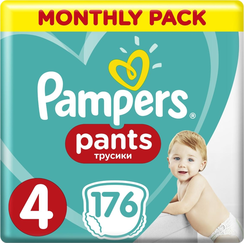 PAMPERS Pants Νο 4 (9-14kg) Monthly Pack 176τμχ