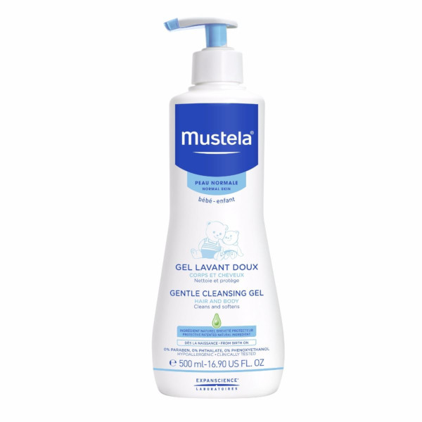 MUSTELA Gentle Cleansing Gel, Απαλό Αφροντούς για Σώμα & Μαλλιά - 500ml