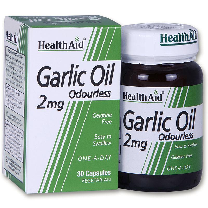 HEALTH AID Garlic Oil (Άοσμο) 2mg 30Caps
