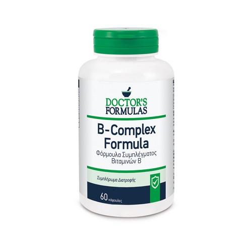 DOCTORS FORMULAS  B- Complex Formula, Σύμπλεγμα Βιταμινών Β - 60tabs