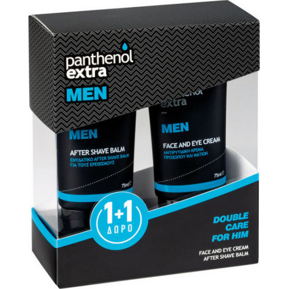 PANTHENOL EXTRA Men Promo Face & Eye Cream 75ml & ΔΩΡΟ After Shave Balm 75ml