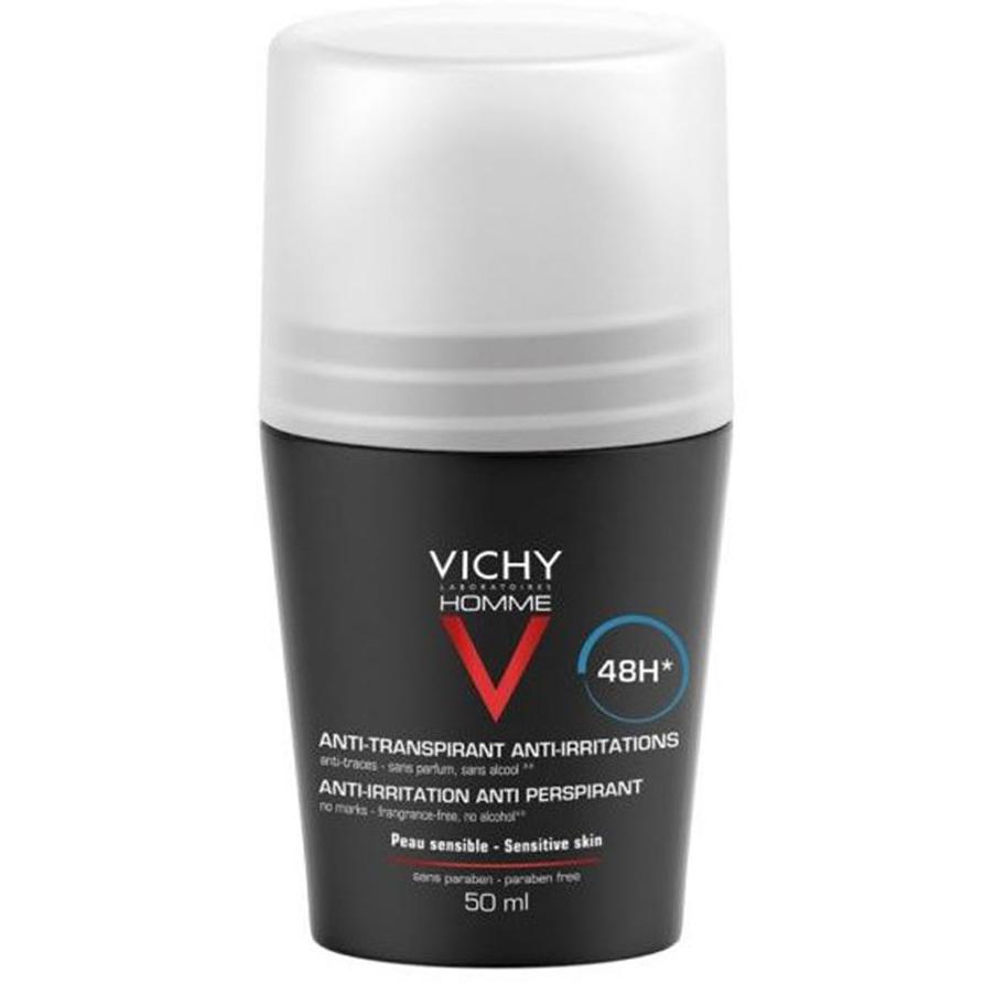 VICHY Homme Deodorant Roll- On, Αποσμητικό για Ευαίσθητες Επιδερμίδες 48h - 50ml