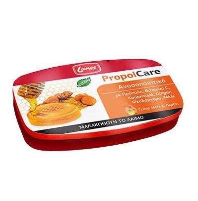 LANES PropolCare Καραμέλες για το Λαιμό με Γεύση Μέλι & Λεμόνι - 54gr