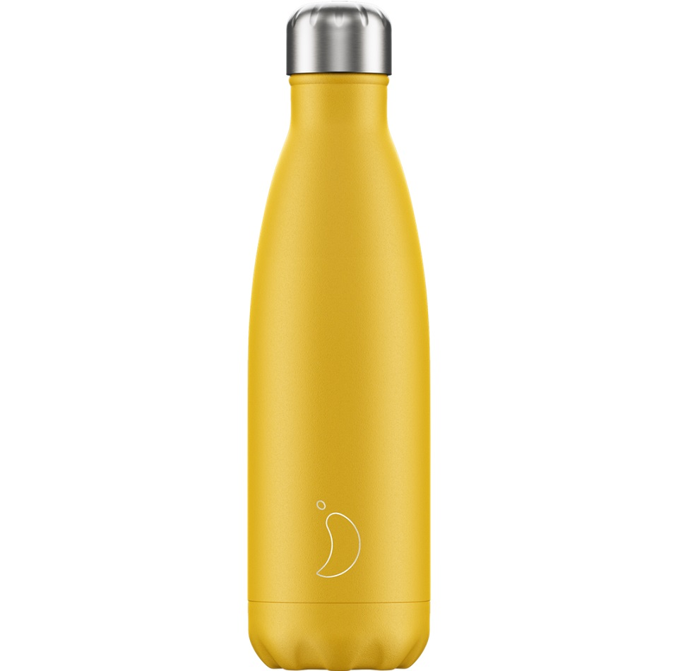 CHILLYS BOTTLES Μπουκάλι- Θερμός, Matte Burnt Yellow - 500ml