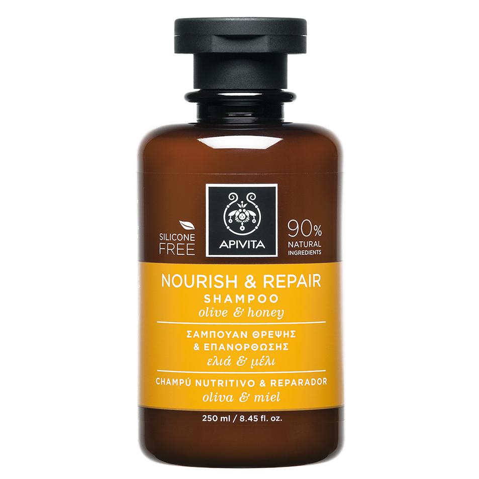 APIVITA Nourish & Repair - Σαμπουάν Θρέψης & Επανόρθωσης Ελιά & Μέλι 250ml