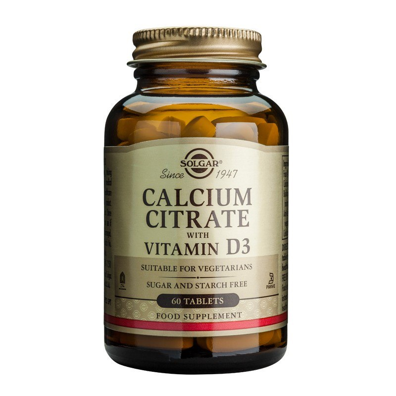 SOLGAR Calcium Citrate with Vitamin D3- 60tabs