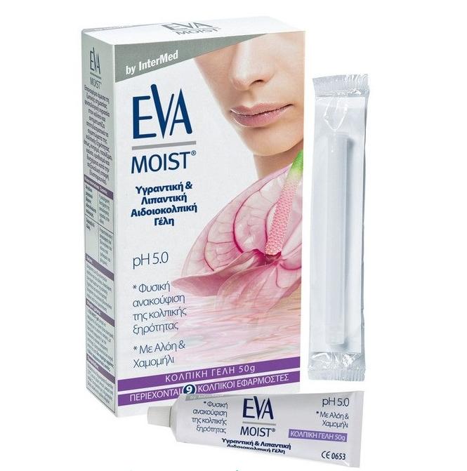 INTERMED Eva Moist Gel pH 5.5, Κολπική Γέλη Εφαρμοστές Μιας Χρήσης - 9τμχ