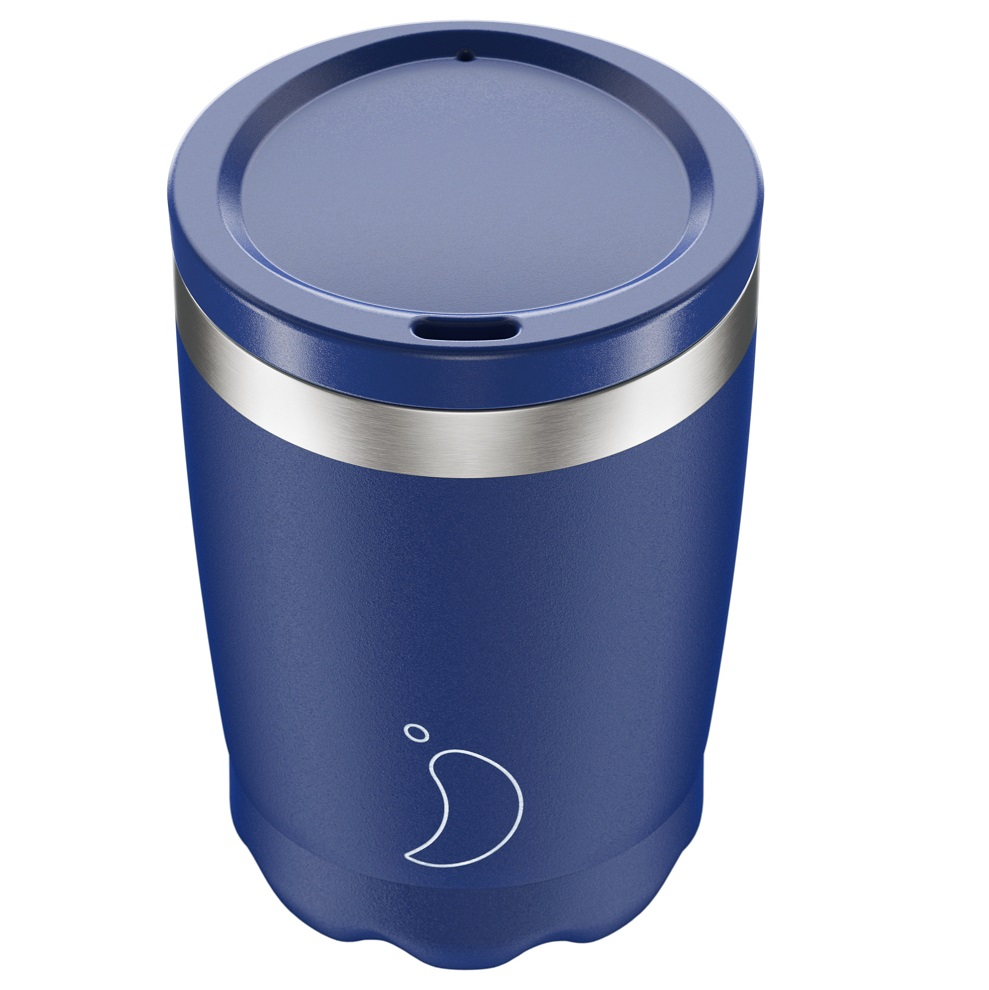 CHILLYS BOTTLES Coffee Cup, Κούπα- Θερμός, Matte Blue - 340ml