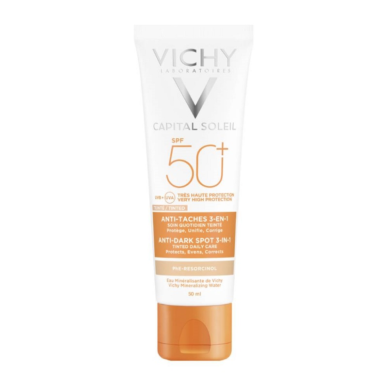 VICHY Ideal Soleil Αντηλιακή Κρέμα Κατά των Κηλίδων, με Χρώμα, SPF50+, 50ml