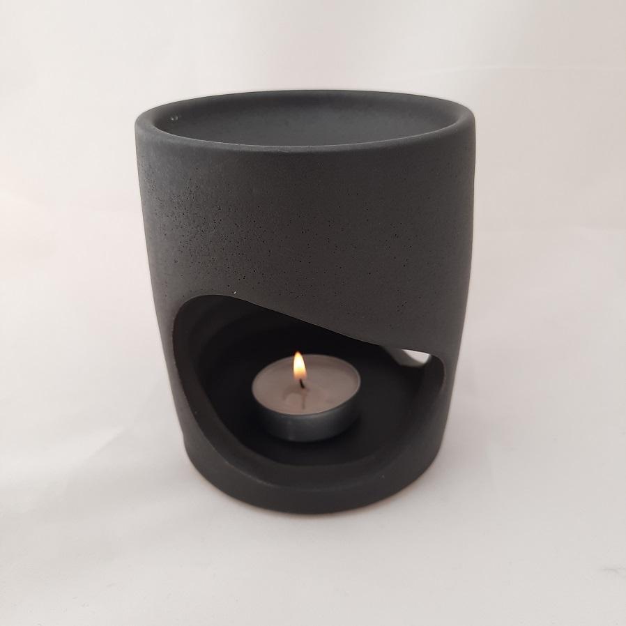 Χειροποίητη Συσκευή Καύσης Αιθέριων Ελαίων MINIMAL Μαύρη
