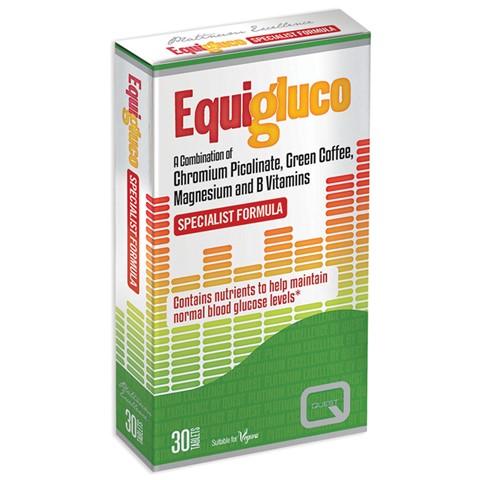 QUEST EquiGluco, για Διατήρηση Φυσιολογικών Επιπέδων Γλυκόζης - 30tabs