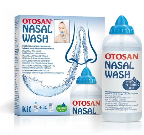 OTOSAN Nasal Wash, Φάκελοι με Φυσιολογικό Ορό για Ρινικές Πλύσεις & Συσκευή Πλύσης - 30 φάκελοι