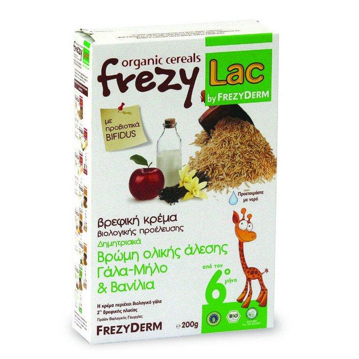 FREZYLAC Βρεφική Κρέμα από Βρώμη Ολικής Άλεσης με Γάλα-Μήλο & Βανίλια 200gr