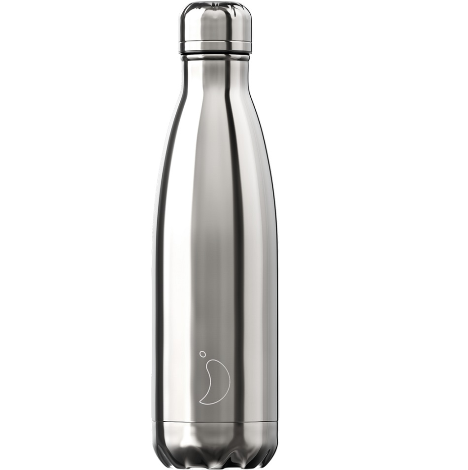 CHILLYS BOTTLES Μπουκάλι- Θερμός, Silver - 500ml