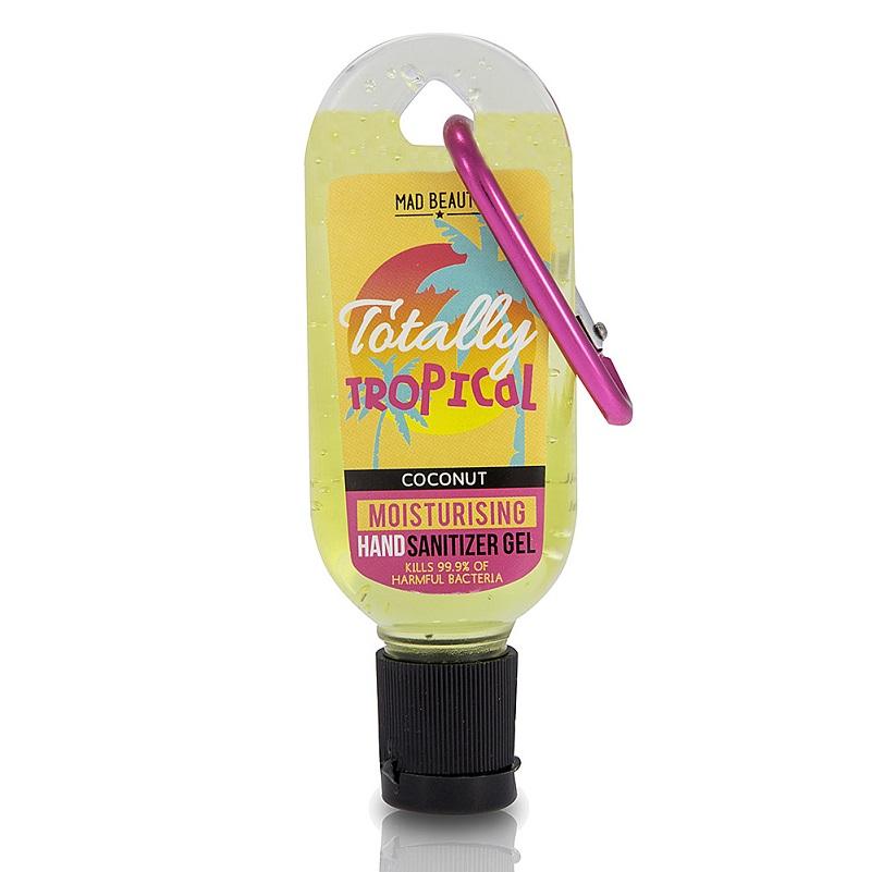 MAD BEAUTY Clip & Clean, Αντισηπτικό Τζελ Χεριών, Totally Tropical- 30ml