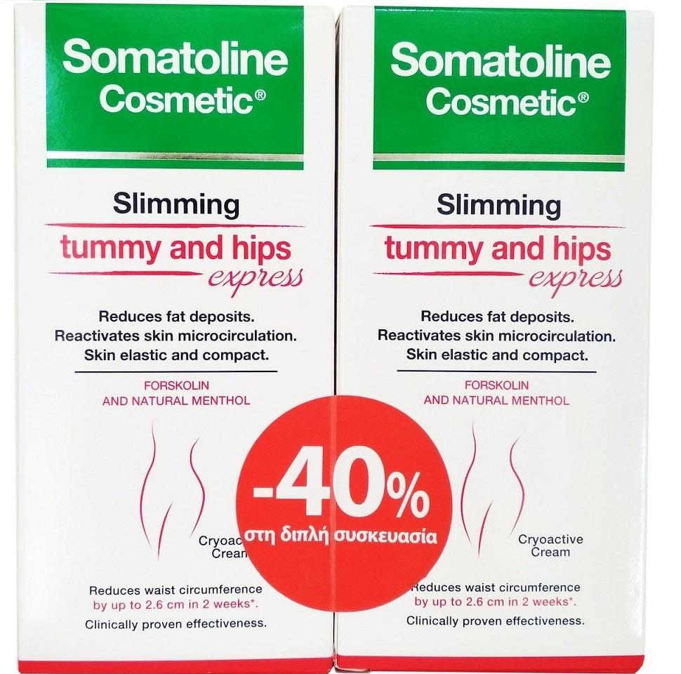 SOMATOLINE COSMETIC Κοιλιά Και Γοφοί Express - 2X150ml -40%