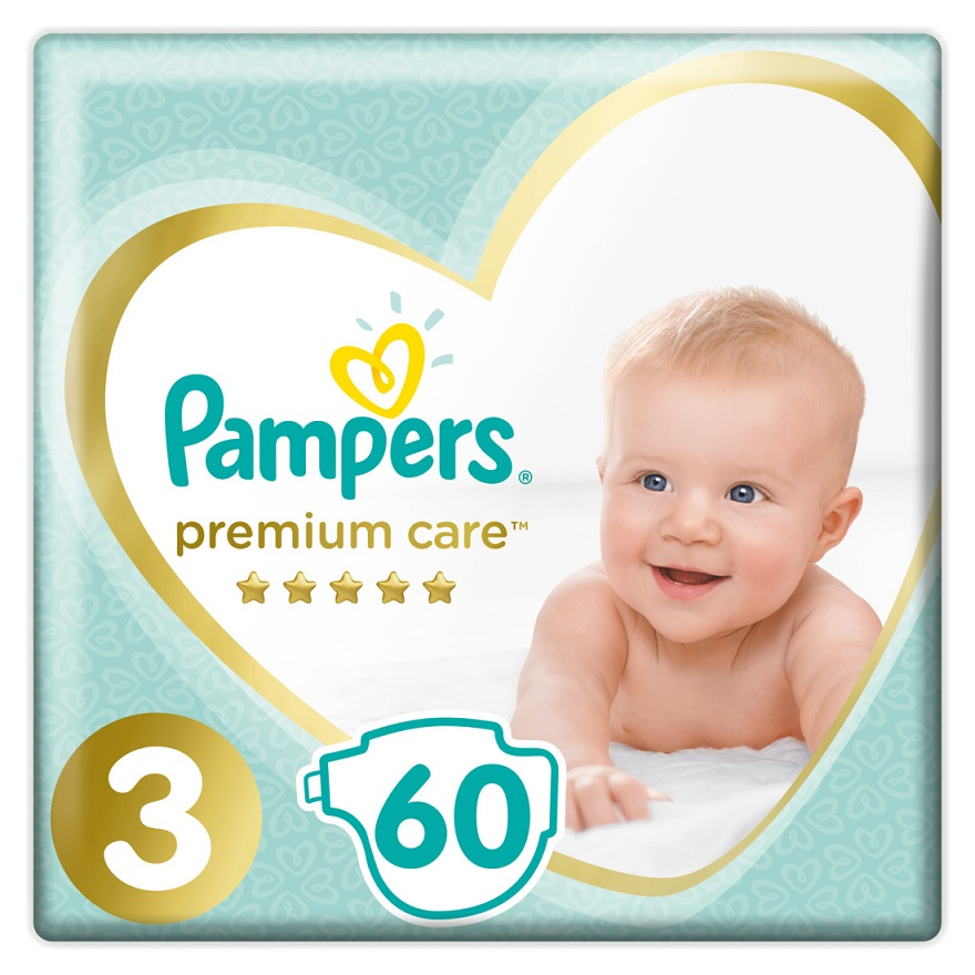 PAMPERS Premium Care No 3 (6-10 Kg) - 60τμχ