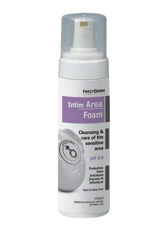 FREZYDERM Intim Area Foam pH 4.0, Απαλός Αφρός Καθαρισμού της Ευαίσθητης Περιοχής - 150ml