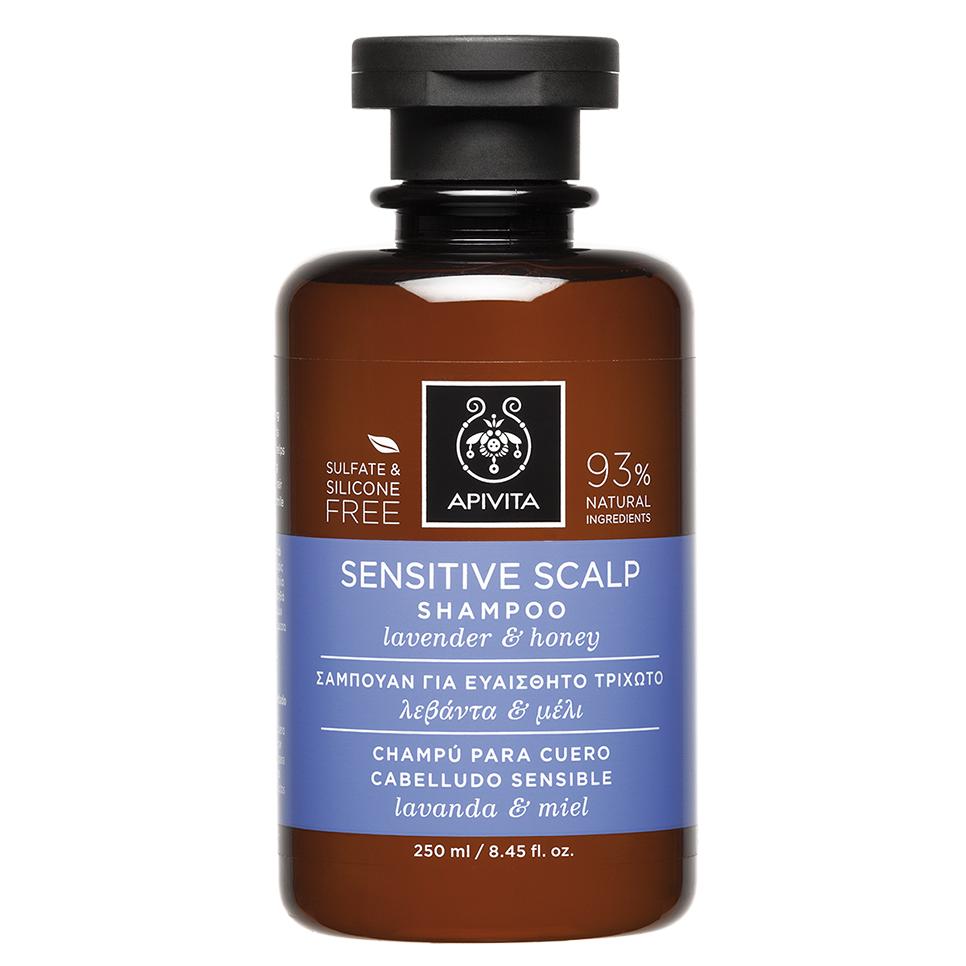 APIVITA Sensitive Scalp - Σαμπουάν Για Ευαίσθητο Τριχωτό Με Λεβάντα & Μέλι 250ml