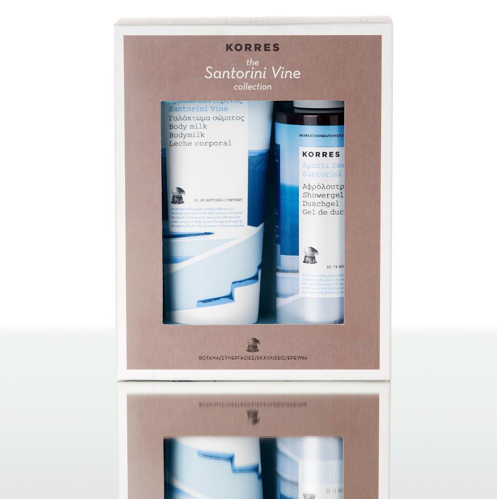 Korres Gift Set Αμπέλι Σαντορίνης Γαλάκτωμα Σώματος 200ml & Αφρόλουτρο 250ml