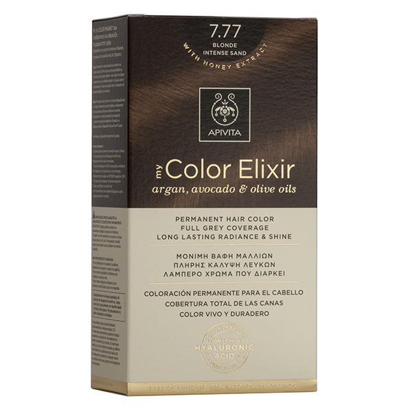 APIVITA My Color Elixir, Βαφή Μαλλιών No 7.77 - Ξανθό Έντονο Μπεζ