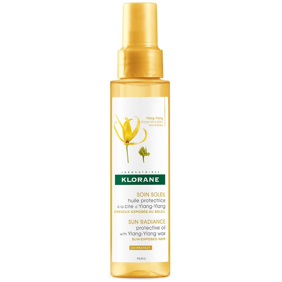 KLORANE Ylang-Ylang Oil Προστατευτικό΄Ελαιο Μαλλιών με κερί Ylang-Ylang για θρέψη & αντιηλιακή προστασία 100ml