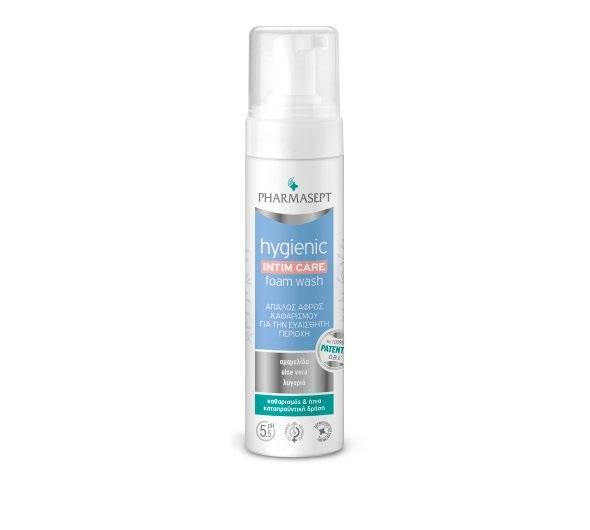 PHARMASEPT Hygienic Foam Wash, Αφρός Καθαρισμού  Ευαίσθητης Περιοχής - 200ml