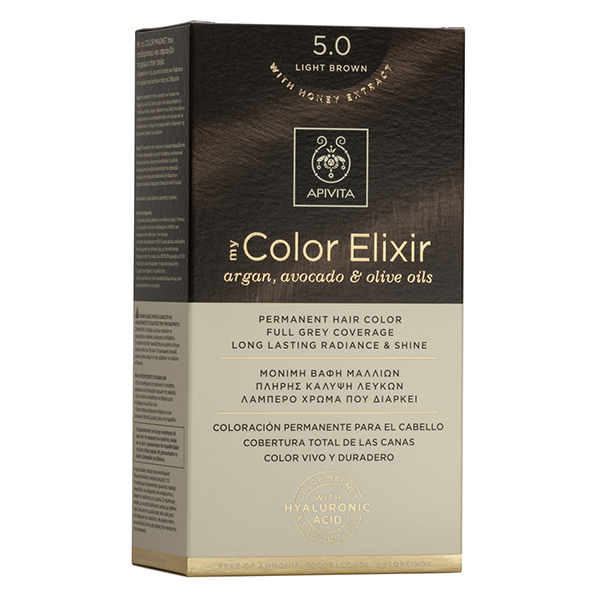 APIVITA My Color Elixir, Βαφή Μαλλιών No 5.0 - Ανοιχτό Καστανό