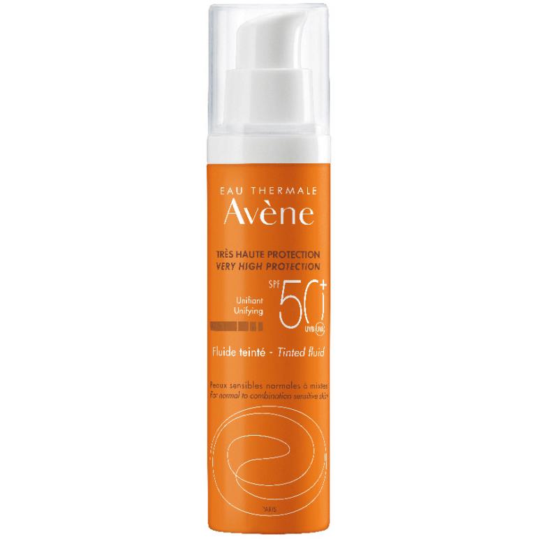 AVENE Fluide Teintee SPF50+, Αντηλιακή Λεπτόρρευστη Κρέμα Προσώπου με Χρώμα - 50ml