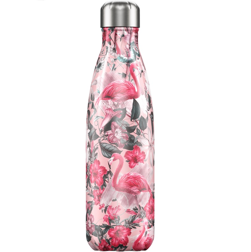 CHILLYS BOTTLES Μπουκάλι- Θερμός Tropical Edition Flamingo - 500ml