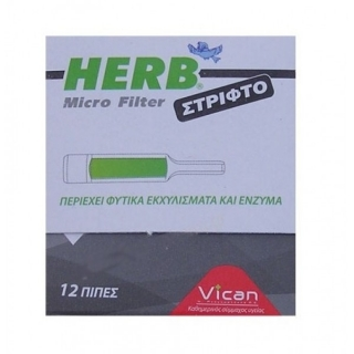 VICAN HERB Micro Filter for Rolled Cigarettes 12pcs